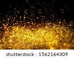 golden glitter bokeh lighting...   Shutterstock . vector #1562164309