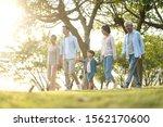 three generation happy asian... | Shutterstock . vector #1562170600