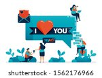 express feelings of love by i... | Shutterstock .eps vector #1562176966