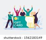 gift card voucher. gift... | Shutterstock .eps vector #1562183149