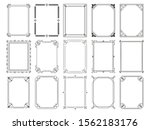 vintage calligraphic frames.... | Shutterstock .eps vector #1562183176