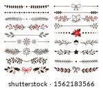 hand drawn ornamental winter...   Shutterstock .eps vector #1562183566