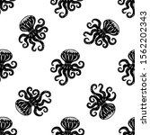 octopus hand drawn... | Shutterstock .eps vector #1562202343