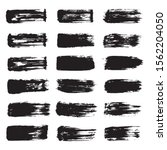 vector black ink brush stroke... | Shutterstock .eps vector #1562204050