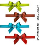 set of colorful satin bows.... | Shutterstock .eps vector #156220694