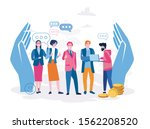 hr  employee care  support of... | Shutterstock .eps vector #1562208520