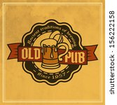 retro styled label of beer.... | Shutterstock .eps vector #156222158