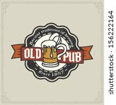 retro styled label of beer.... | Shutterstock .eps vector #156222164