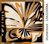 trendy scarf print. creative... | Shutterstock .eps vector #1562230066