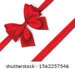 Decorative Red Bow With...