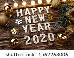 Happy New Year 2020. Symbol...