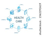 health care isometric concept....   Shutterstock .eps vector #1562292619