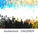 abstract square pixel mosaic... | Shutterstock .eps vector #156229829