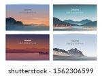 abstract landscape set  vector...   Shutterstock .eps vector #1562306599