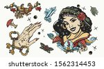witch woman  gypsy  crystal... | Shutterstock .eps vector #1562314453