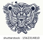 bear head portrait vector... | Shutterstock .eps vector #1562314810