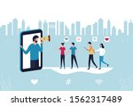 concept blogger influencer... | Shutterstock .eps vector #1562317489