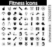 professiona fitnessl icons for... | Shutterstock .eps vector #156233573