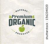 vintage eco green sticker label ... | Shutterstock .eps vector #156234020