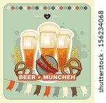 oktoberfest vintage design ... | Shutterstock .eps vector #156234068