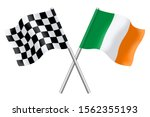 3d flags of ireland and... | Shutterstock . vector #1562355193