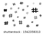 hand draw hash tags sign kit....   Shutterstock .eps vector #1562358313