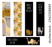 bookmarks set. hand drawn cats  ...   Shutterstock .eps vector #1562358889