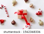 flat lay of christmas ornament... | Shutterstock . vector #1562368336