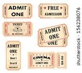 tickets set | Shutterstock .eps vector #156238076