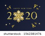 happy new year 2020 background...   Shutterstock .eps vector #1562381476