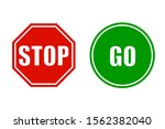 stop and go signs   stock vector   Shutterstock .eps vector #1562382040