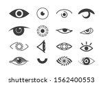 eye icon set. human organ of... | Shutterstock .eps vector #1562400553