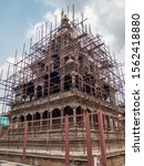 Small photo of Repair of historical building of Patan Durbar in Kathmandu after infamous Nepal Earthquake