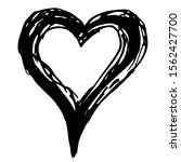 drawn heart  on a white... | Shutterstock .eps vector #1562427700