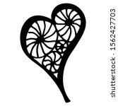 drawn heart  on a white... | Shutterstock .eps vector #1562427703