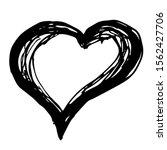 drawn heart  on a white... | Shutterstock .eps vector #1562427706