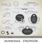 calligraphic design elements... | Shutterstock .eps vector #156244106