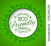 round eco green stamp label of... | Shutterstock .eps vector #156244154