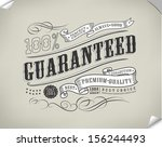 Stock vector premium quality guarantee and sale labels and typography design vector 156244493
