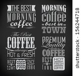 retro typography  coffee shop ... | Shutterstock .eps vector #156244718