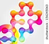 abstract chain background for... | Shutterstock . vector #156245063