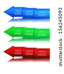 next step arrow boxes.  | Shutterstock .eps vector #156245093