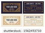 vintage business card in two... | Shutterstock .eps vector #1562453710