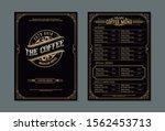 coffee shop menu template.... | Shutterstock .eps vector #1562453713