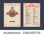 vintage restaurant menu design... | Shutterstock .eps vector #1562453719