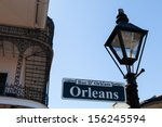 orleans street sign in the... | Shutterstock . vector #156245594