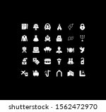 collection simple icons of... | Shutterstock .eps vector #1562472970