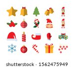 merry christmas icon set pack ... | Shutterstock .eps vector #1562475949