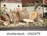 cut down tree in a city in... | Shutterstock . vector #1562479