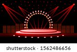 stage illustration with lights... | Shutterstock .eps vector #1562486656